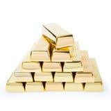Gold ingots Royalty Free Stock Images