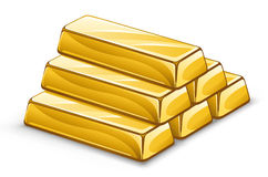 Gold ingots royalty free illustration