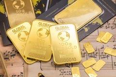 Gold ingots Stock Image