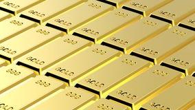 Gold ingots background. Stock Images