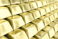 Gold ingots Stock Photos