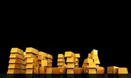 Gold ingots Royalty Free Stock Photography