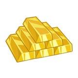 Gold ingots. Isolated on white background Stock Photography