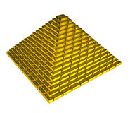 Gold ingots pyramid Stock Photo