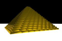 Gold ingots pyramid Royalty Free Stock Image