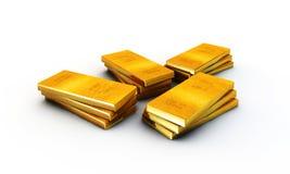 Gold ingots Stock Photos