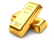 Gold ingots Royalty Free Stock Photos