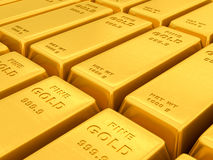 Gold ingots Stock Images