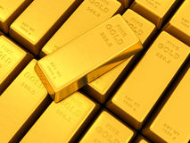 Gold ingots Royalty Free Stock Photography