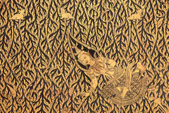 Gold interior of angel, floral, and rabbits Royalty Free Stock Photography