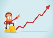 Gold Investment vector illustration
