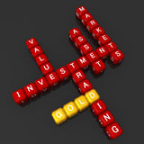 Gold investment concept crossword Royalty Free Stock Photos
