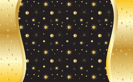 Gold invitation background,. Gold invitation background. Vector. Gold shapes of the different stars on black background. For creating beautiful greeting card Royalty Free Stock Photos