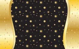 Gold invitation background,  Royalty Free Stock Photos