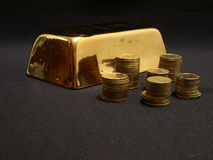 Gold iongot Stock Photography