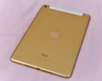 Gold ipad. Apple new ipad mini4 gold ipad Stock Photo