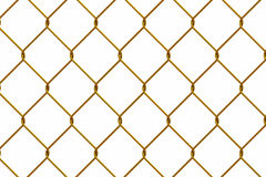 Gold iron wire fence Stock Photos