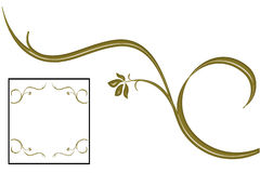 GOLD IVY IS FRAME, DESIGN LOVE. Make a square and good decoration, frame and design Stock Photo