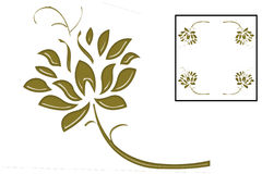 GOLD IVY IS FRAME, DESIGN LOVE. Make a square and good decoration, frame and design Stock Photos