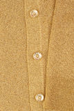 Gold jacket. Clipping with arm and three buttons Royalty Free Stock Photo