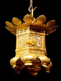 Gold Japanese lantern Stock Image