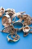 Gold jewel close up Stock Images