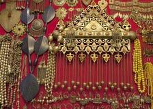 Gold jewelery in grand bazaar,İstanbul Stock Image