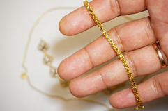 Gold jewelery Royalty Free Stock Photography