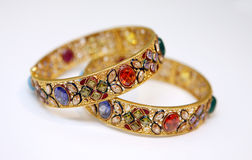 Gold jewellery Royalty Free Stock Image