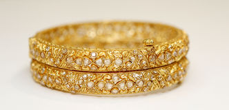 Gold jewellery Royalty Free Stock Photography