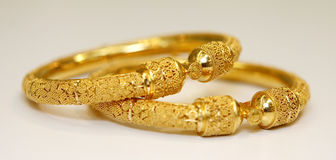 Gold jewellery Royalty Free Stock Images