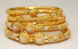 Gold jewellery Stock Images