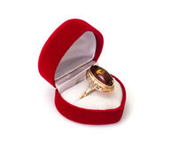 Gold Jewellery with amber Royalty Free Stock Photography