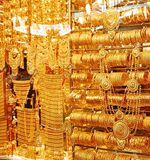 Gold jewellery shop over shops sell gold jewelry at the famous stock photos