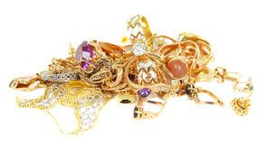 Gold Jewelry. Royalty Free Stock Images
