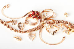 Gold jewelry Royalty Free Stock Images