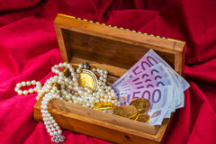 Gold and jewelry Royalty Free Stock Image