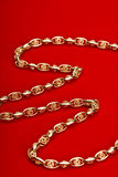 Gold jewelry Stock Photography