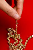 Gold jewelry Royalty Free Stock Photography
