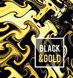 Gold jewelry on a black background. Vector illustration in black on gold style. royalty free stock images