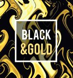 Gold jewelry on a black background. Vector illustration in black on gold style. stock images