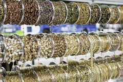 Gold Jewelry Bracelets Stock Images