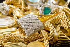 Gold Jewelry royalty free stock photos