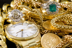 Gold Jewelry royalty free stock photo