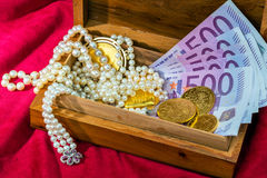 Gold and jewelry Stock Images