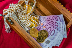 Gold and jewelry Royalty Free Stock Photo