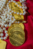 Gold and jewelry Royalty Free Stock Images