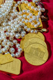 Gold and jewelry Stock Photos