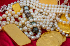 Gold and jewelry Stock Photography