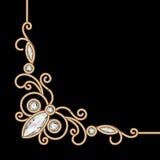 Gold jewelry corner Stock Photo